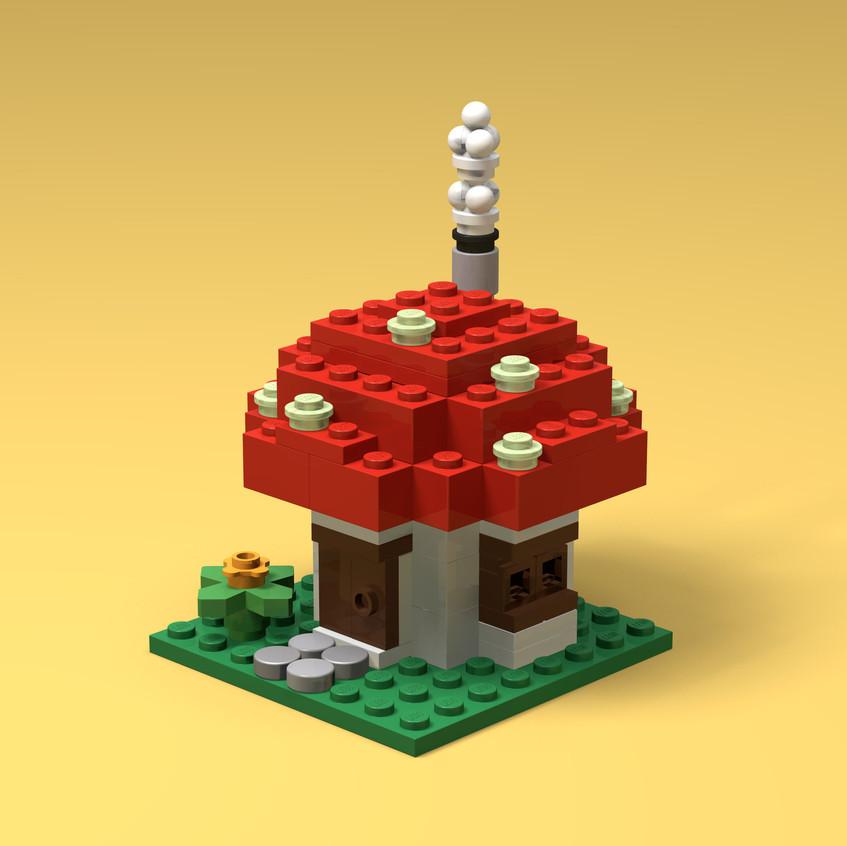 Brick Buildings - Mushroom House