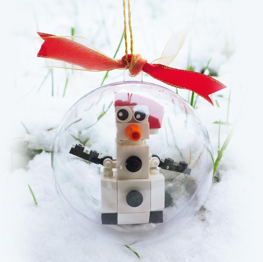 Snowman in bauble
