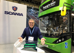 Scania LEGO Bus at the Euro Bus Expo