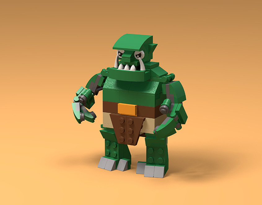 Brick Beasts Book - Ogre