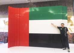 The biggest flag made from LEGO bricks in Dubai