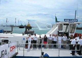 """Abanderan en el Puerto de Altamira la Draga """"Ana Laura"""""""