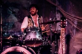 Tom onstage at Mr Wolfs in Bristol