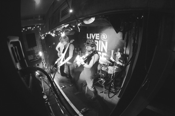 Onstage at The Grain Barge, Bristol