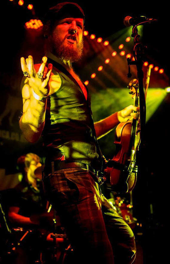 Vince onstage at The Fleece, Bristol