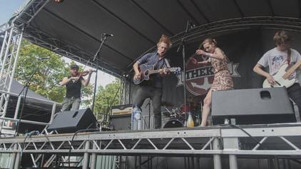 Onstage for Thekla at Bristol Harbourside Festival
