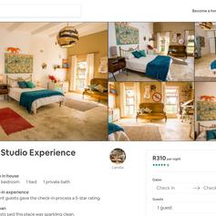 Artist Studio Experience, Web Page