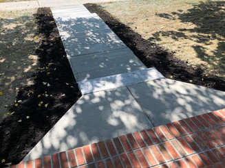 Custom Brick Steps and Sidewalk