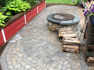 Custom Firepit and Patio