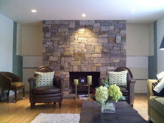 Granite Stone Fireplace