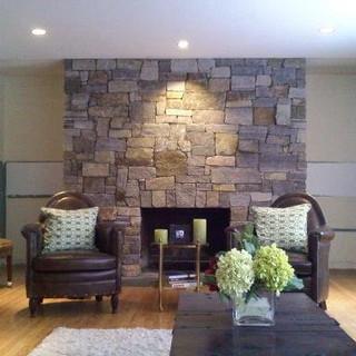 Granite Ledgestone Fireplace