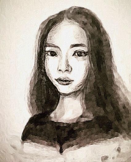 Portrait paiting by Minzuo Lu