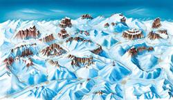 Die fertige Panoramakarte Winter