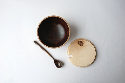 Lidded Bowl with Spoon
