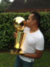 Rob with the NBA Trophy