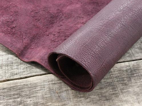 Raisin Shrunken Bison Leather 6-7oz