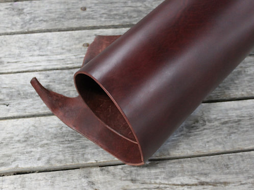 Chestnut Bridle Leather Rolled