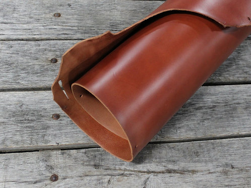 Cinnamon Bridle Leather Rolled
