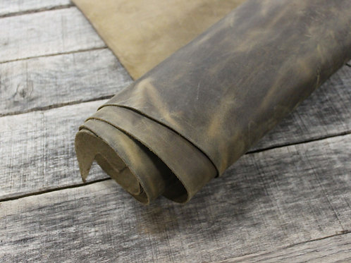 Tan Crazyhorse Leather Rolled