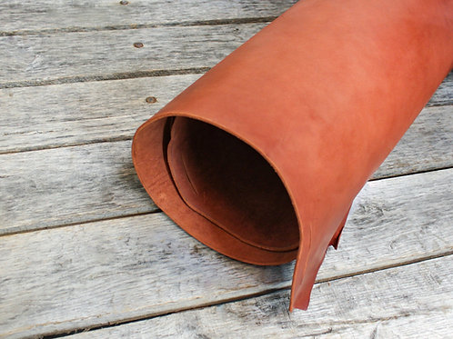 Mahogany Skirting Leather Rolled