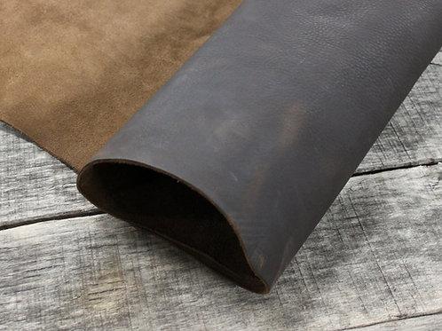 Worn Saddle Chocolate Leather Rolled