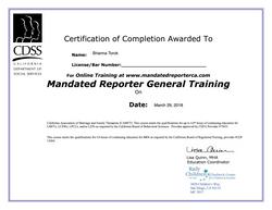 BTorok 587 Mandated Reporter General Training