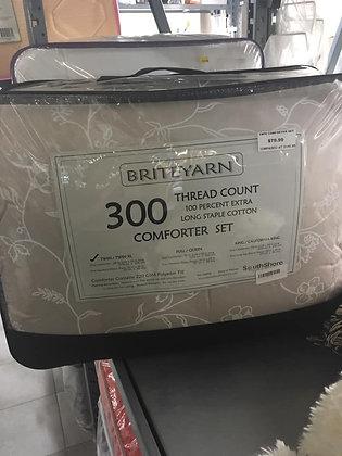 Briteyarn 100% Cotton Twin Comforter Set