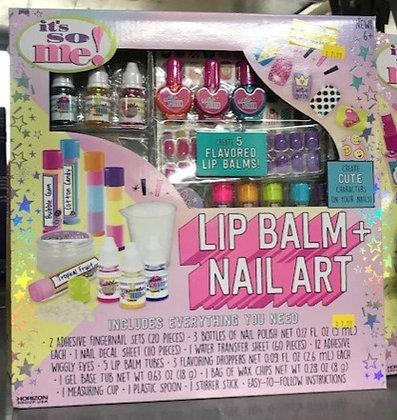 Lip Balm + Nail Art Kit