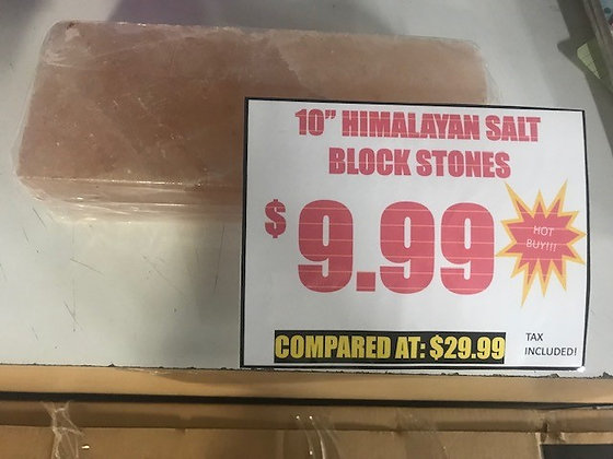 """Himalayan Salt Stone - 10"""""""