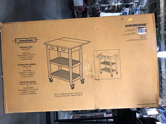 BNIB WINSOME Jonathan 94734 Kitchen Cart