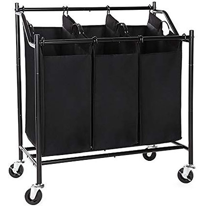 3-Bag Portable Laundry Sorter