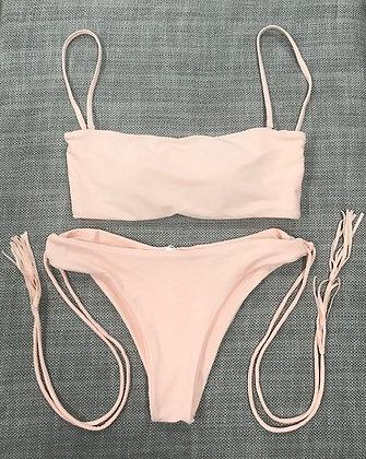 Pink Tassle 2-Piece Bikini