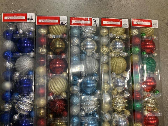 77-Piece Shatterproof Ornaments