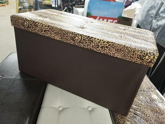 Cheetah Fold-able Ottoman