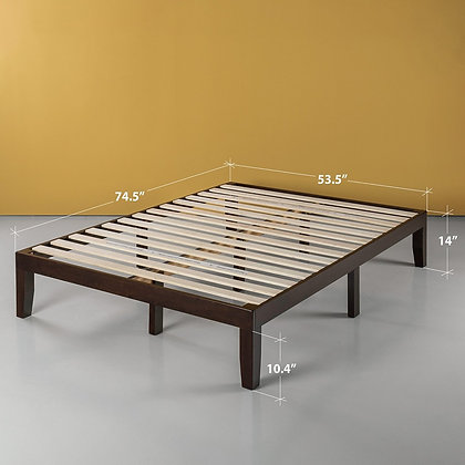 Full Size Platform Bed 14""