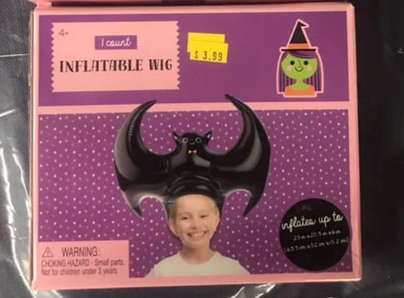 Bat Inflatable Wig