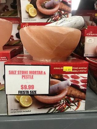 Himalayan Salt Mortar & Pestle - Fiesta Size