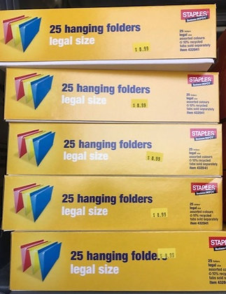 Staples 25 Hanging Folders