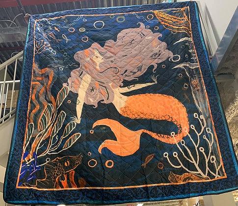 Hand-Made Mermaid Quilt