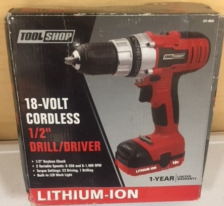 "Tool Shop 1/2"" Cordless Drill/Driver"