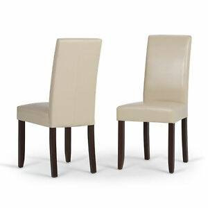 Acadian Faux Leather Dining Chairs