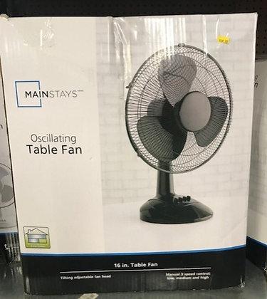 Mainstays Oscillating Table Fan