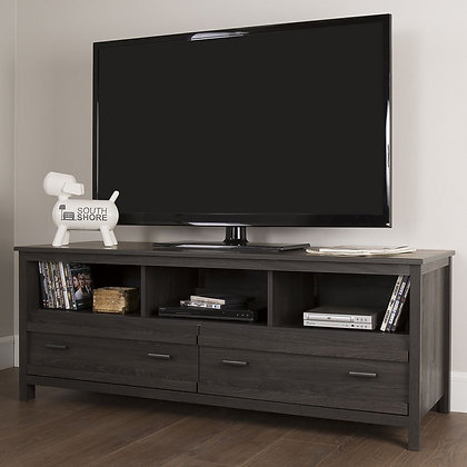"""South Shore Exhibit TV Stand For Up To 60"""" TV's"""