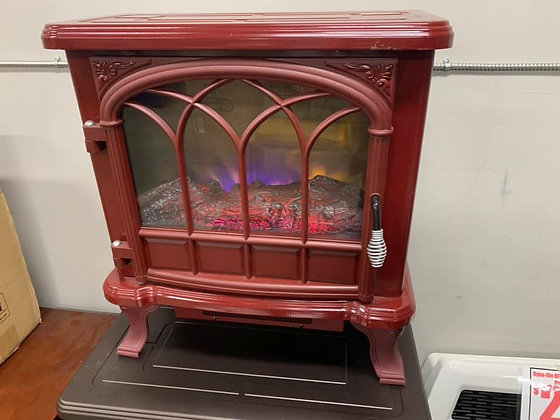 Mini Red Fireplace
