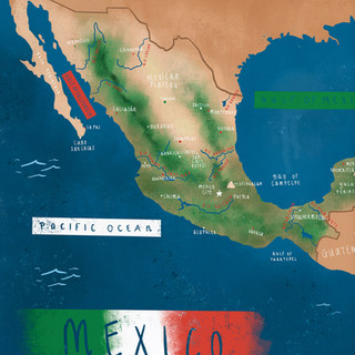 Map_Mexico_Geography_Poster_Central-Amer