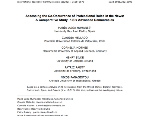 New JRP Project Paper Published in International Journal of Communication