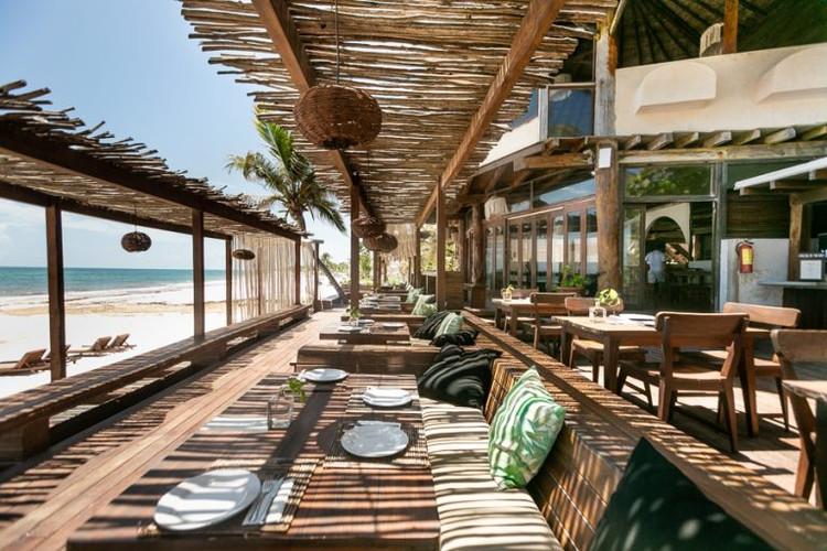 Tulum style beach beds
