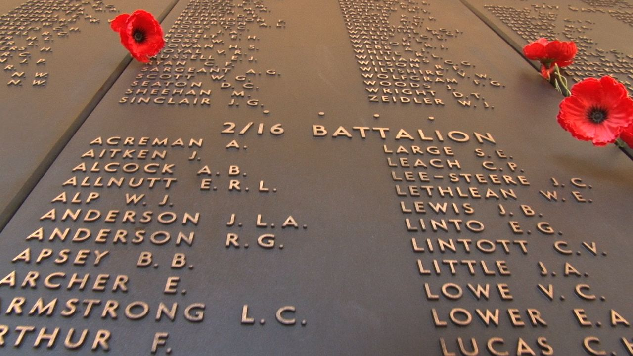 2/16th Battalion Wall of Remembrance