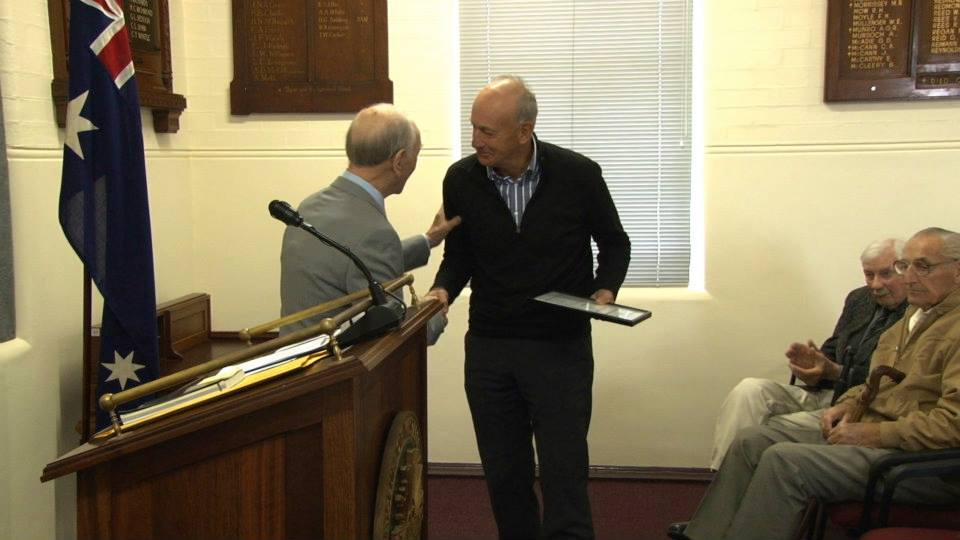 Bill Grayden and editor Bill James.