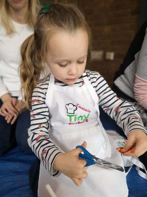 Tiny Tasters Personalised, Embroidered Apron
